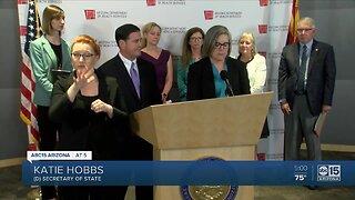 Arizona Governor Doug Ducey stresses social distancing