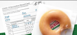 Krispy Kreme offering free doughnut for customers with COVID-19 vaccination card