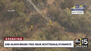 RAW: Crews battling 2nd alarm brush fire near Scottsdale/Dynamite