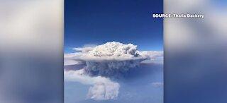 Pyrocumulus cloud over California