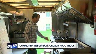 Community resurrect church's burned food truck