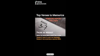 Top Verses To Memorize, Amos 3:7