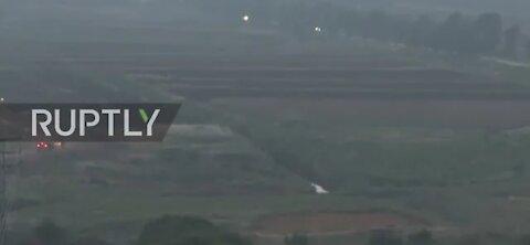 Lebanon: shots heard as group crosses border into Israel