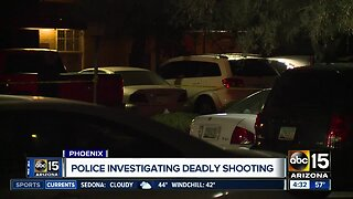 Phoenix police investigating deadly shooting near 67th Avenue and McDowell Road.