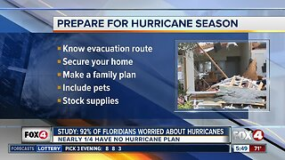 Study: 92% of Floridians worried about Hurricane season