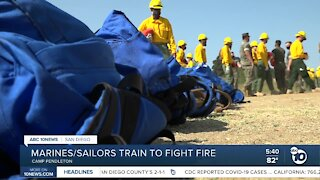 Marines and Sailors to fight Creek Fire