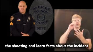 Tucson Police Department released the body cam footage of the officer-involved shooting