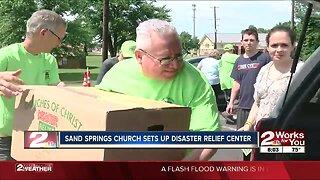 Sand Springs church helping community flood victims