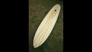 Vintage Lance Carson Surfboard 1960's
