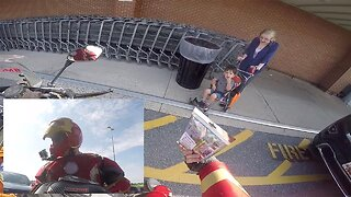 Iron Man Motorcyclist Hands Out Random Acts Of Kindness To Strangers Much To Their Bemusement And Delight