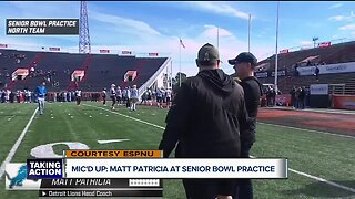 Matt Patricia was mic'd up for Senior Bowl practice