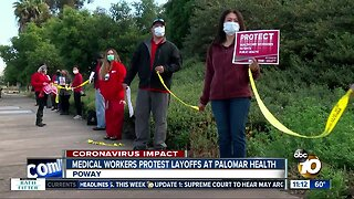 Medical workers protest layoffs at Palomar Health