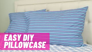 Easy Basic Pillowcase with French Seams   Beginner Sewing Project