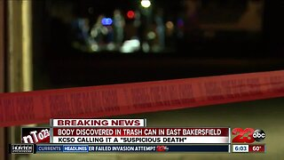 Body found in trash can in East Bakersfield