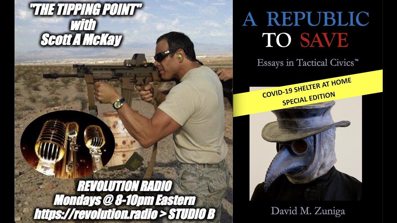 "Scott McKay Patriot Streetfighter on ""The Tipping Point"" on Revolution Radio Studio B: Tactical Civics!! - Must Video"