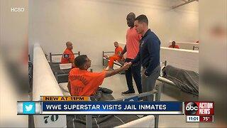 Hillsborough inmates get surprise visit from WWE superstar