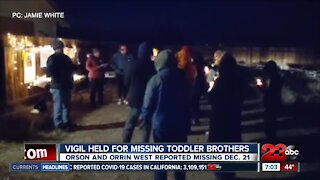 California City community holds vigil for missing toddler brothers
