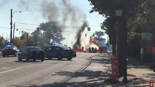 Gas explosion on Montgomery and Ronald Reagan