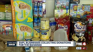 Local businesses collect donations for the Bahamas