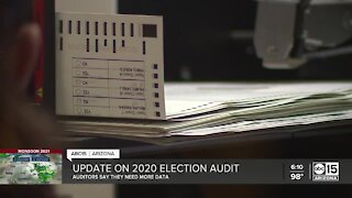 Auditors claim they need more data about 2020 election