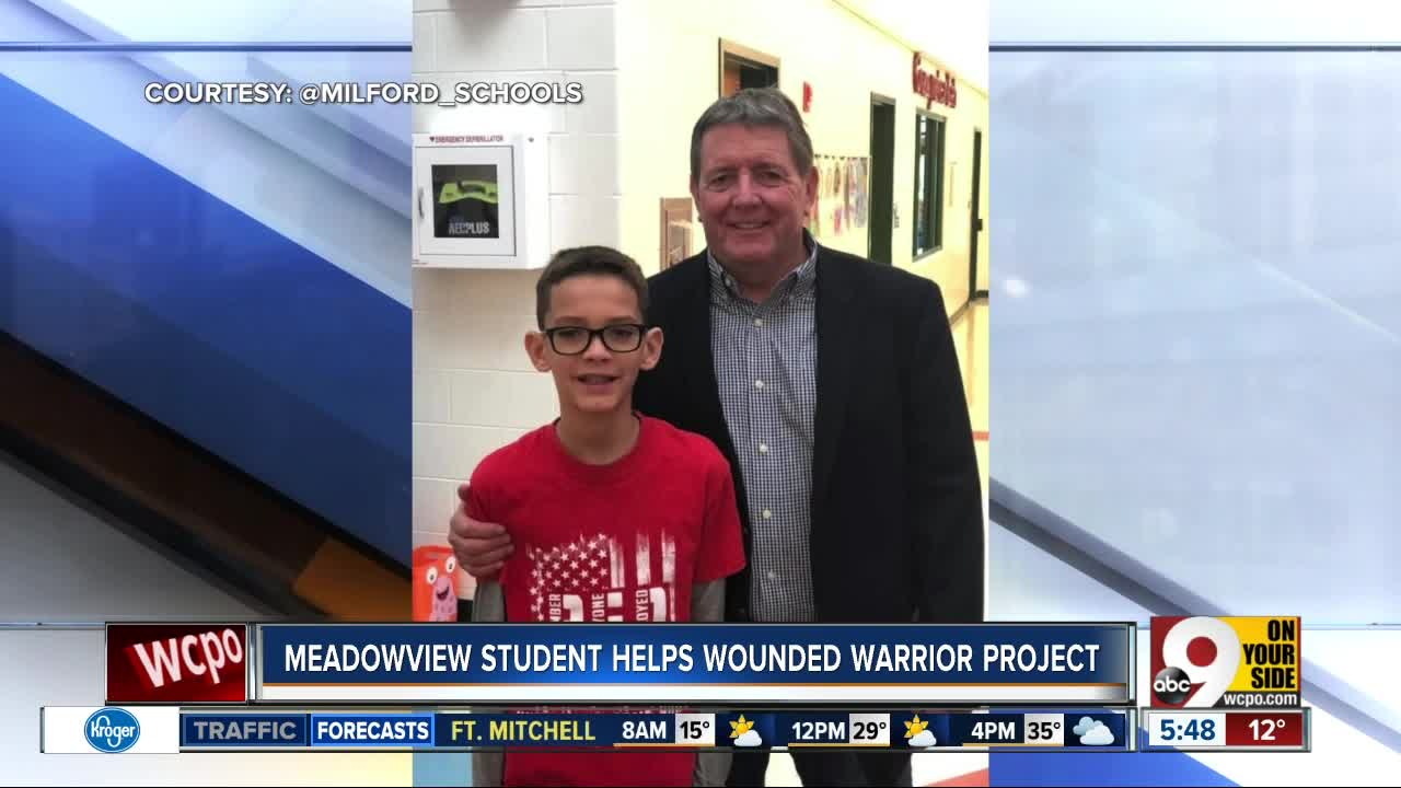 Meadowview Student Raising Money for Wounded Warriors