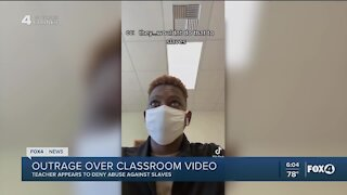 Teacher on leave after classroom slavery discussion goes viral