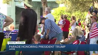 Supporters gather in Jupiter to watch Trump boat parade