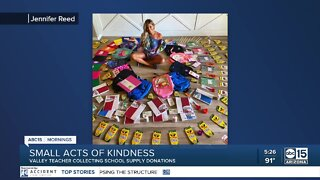 Valley teacher organizes school supplies donation