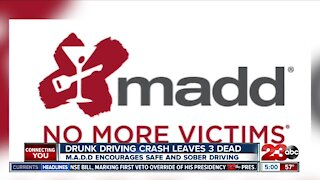 Drunk driving crash leads to three dead