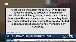 Blue Shield could soon help with COVID-19 vaccination rollout