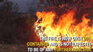 Camp Pendleton, local firefighters battle Creek Fire
