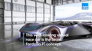 This is the Fordzilla P1 Concept, a virtual race car.