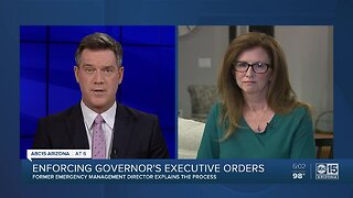 Insight on enforcing governor's extended executive orders