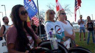 Guest speakers - Anti-Lockdown peaceful protest in Windsor, Ontario, Canada. November 8th, 2020