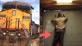 TRAIN CRASH BAIT TRUCK PRANK