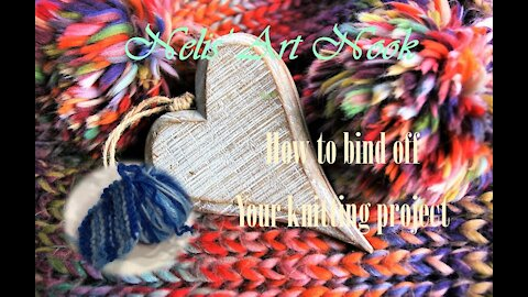 How to Bind off your knitting project - Continental knitting (Tutorial #4/4)