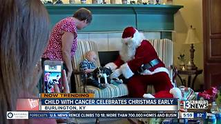 Child with cancer celebrates Christmas early