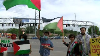 Pro-Palestinian rally held in Omaha