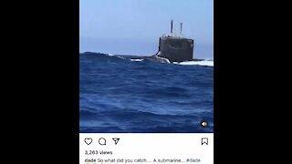 Submarine surfacing near Miami beach today