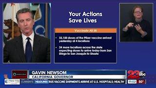 Newsom provides update on Pfizer vaccine in California