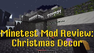 Minetest Mod Review: Christmas decor