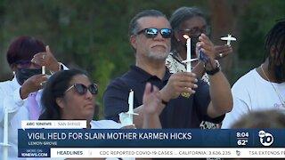 Vigil held for slain mother Karen Hicks