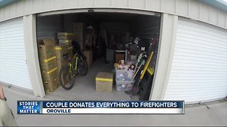 Northern California family donate all possessions to firefighters