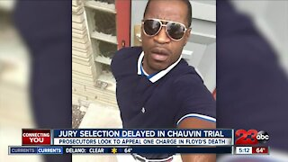 Jury selection delayed in Chauvin trial, prosecutors look to appeal one charge in Floyd's death