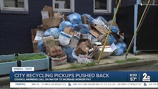 City recycling pickups pushed back