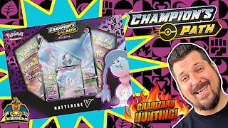 Champion's Path Hatterene V Collection | Charizard Hunting | Pokemon Cards Opening