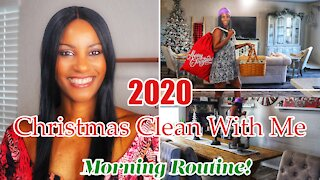 2020 Christmas Clean with Me | New Morning Routine Holiday Edition