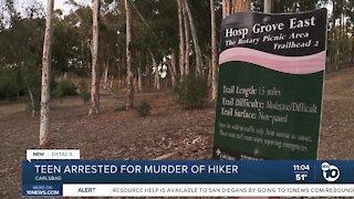 Teen arrested for murder of hiker