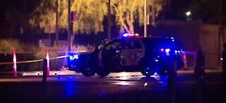 Man is dead after jumping from police car