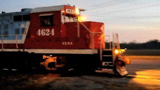 Carolina Coastal Freight Train With EMD GP9R's